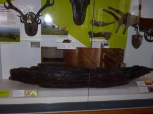 Dug out canoe, Harris Museum