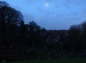 Moon over Castle Hill