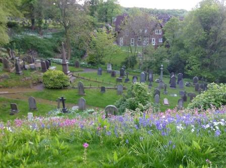 St Mary's Graveyard from Castle Hill
