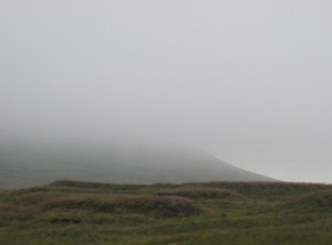Mist over Whernside near Nidd Head