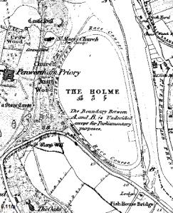 Penwortham Holme, 1840, Courtesy of Mario Maps