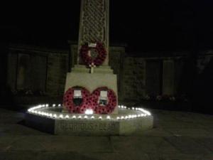 Penwortham War Memorial Candles 2 - Copy