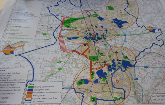 City Deal Map, courtesy of South Ribble Borough Council