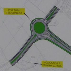 Proposed Roundabout, courtesy of South Ribble Borough Council