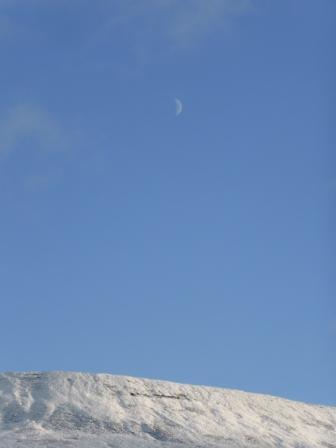 Crescent Moon over Park Fell