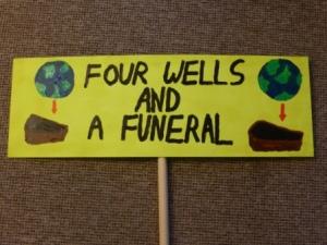 Sign for fracking protest