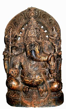 13th C statue of Ganesh, courtesy of Wikipedia