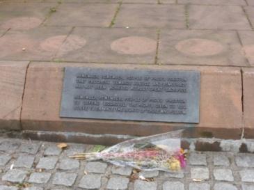 Flowers at Preston Martyrs' Memorial II