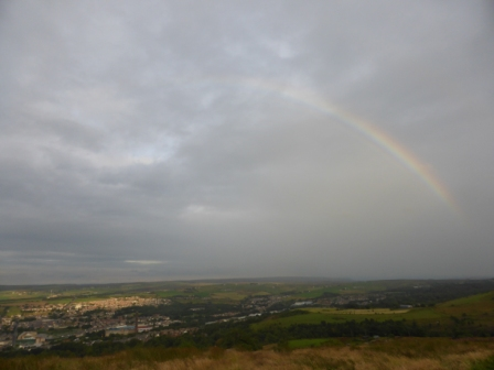 Rainbow over Darwen I
