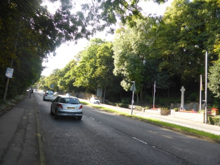 A59 between site of St Mary's Well and Penwortham War Memorial