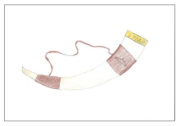 The horn of Bran - drawing - border