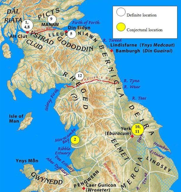 Thirteen Treasures of the North Map