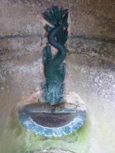Sea serpent, dolphin fountain, Avenham Park