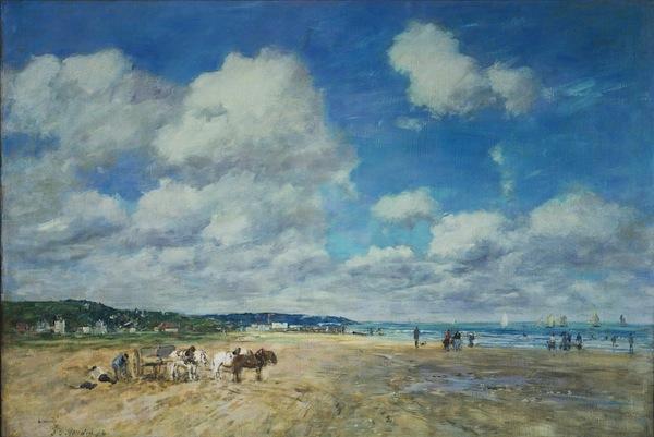 Image- Eugène Boudin (1824-1898), Deauville, 1893, © The Samuel Courtauld Trust, The Courtauld Gallery, London