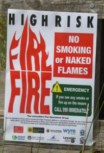 Scorched Fire Sign