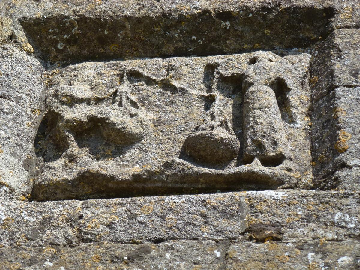 St Michael, Scales, Dragon, Glatonbury Tor 2013