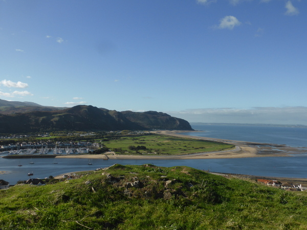 Deganwy Castle Site big hill summit II Conwy and Beach Med