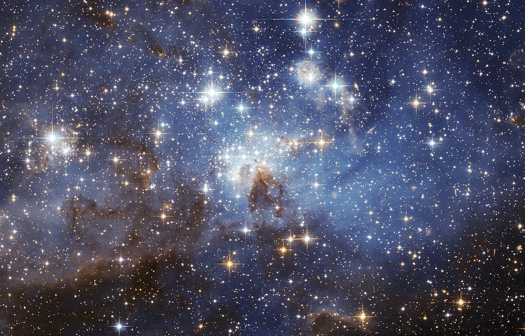 A star-forming region in the Large Magellanic Cloud Wikipedia Commons