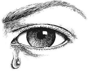 Crying Eye Clip Art Library II
